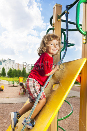 Climbing wall at playground