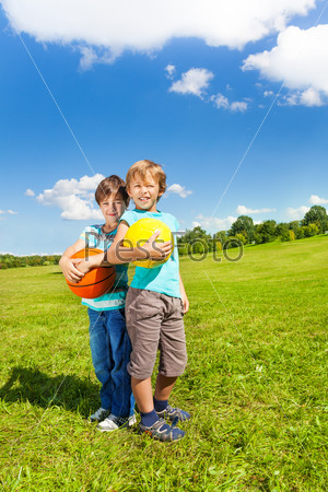 Two boys with ball