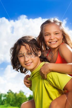 Couple of kids portrait