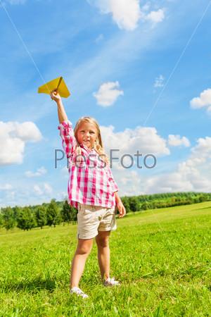 Girl paper plane
