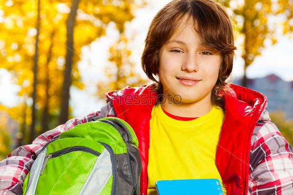 Close portrait of schoolboy