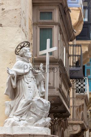 Sculpture in Valletta. Malta