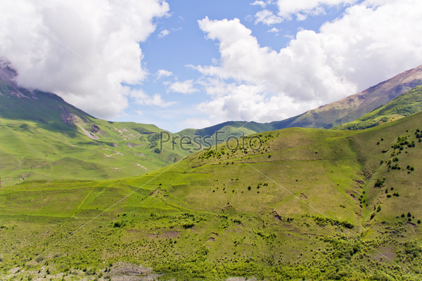 Caucasus green mountains