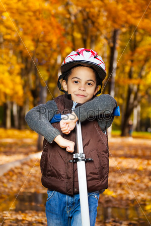 Boy on the scooter