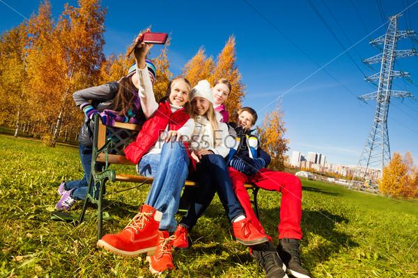 Kids having fun with camera