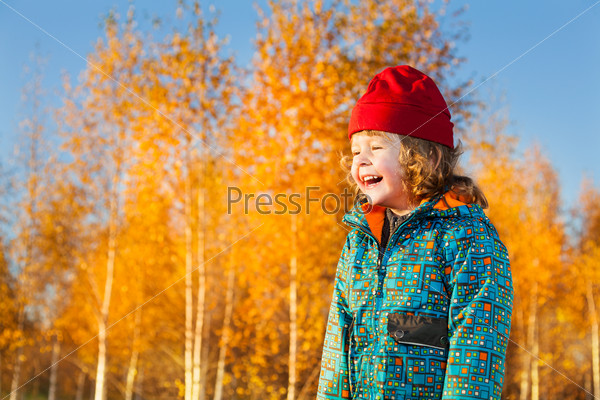 Laughing 3 years old boy