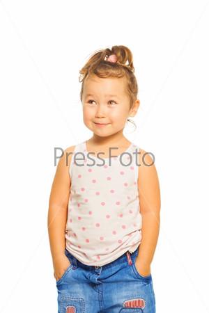 Shy Asian girl