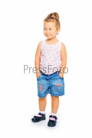 Full height portrait of Asian girl