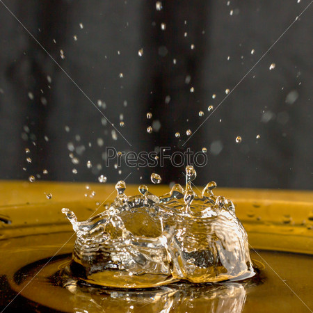 Splash of water drop.