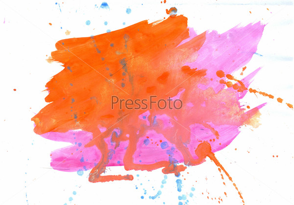 Orange and Pink Watercolor