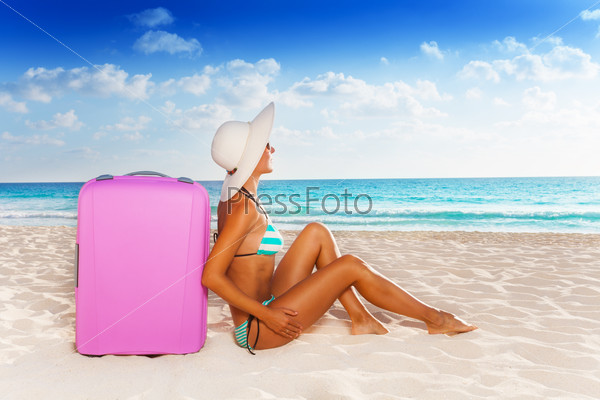 Luggage and beach vacation