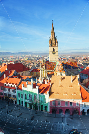 Stair's Tower and Sibiu old town, Romania