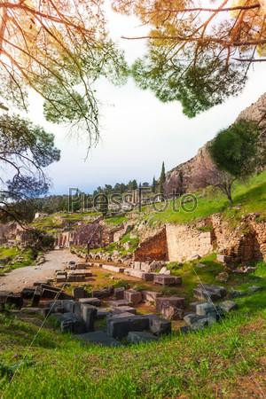 The ruins of Delfi, Greece