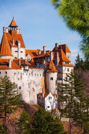 Close view of Bran Castle (Dracula castle)