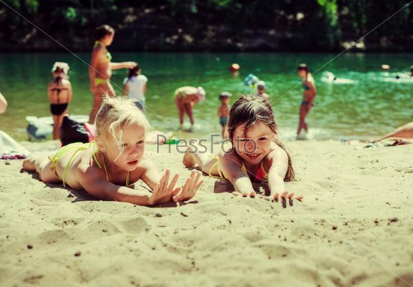 фото дети купаются.