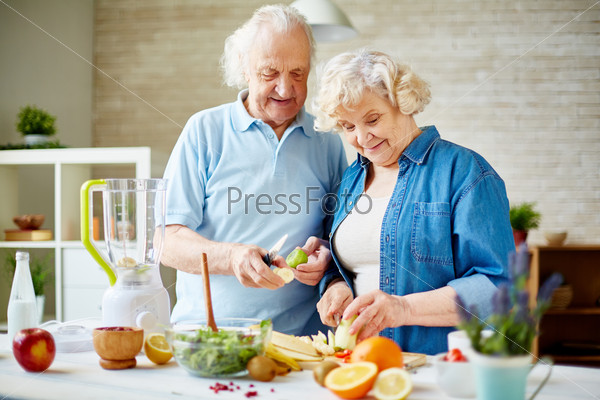 Пожилые вегетарианцы