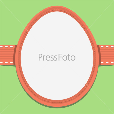 Easter card template in the frame of eggs