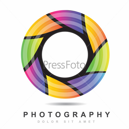 Photography iris aperture logo