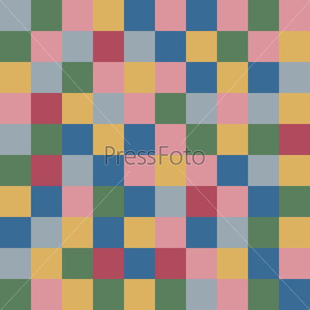 Colored squares textile abstract background