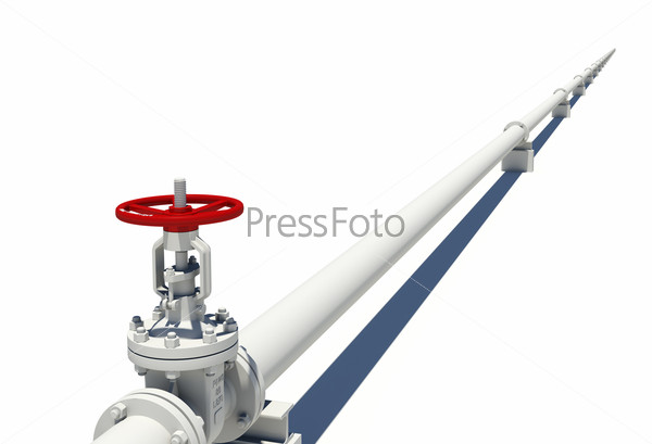 White pipe with valve