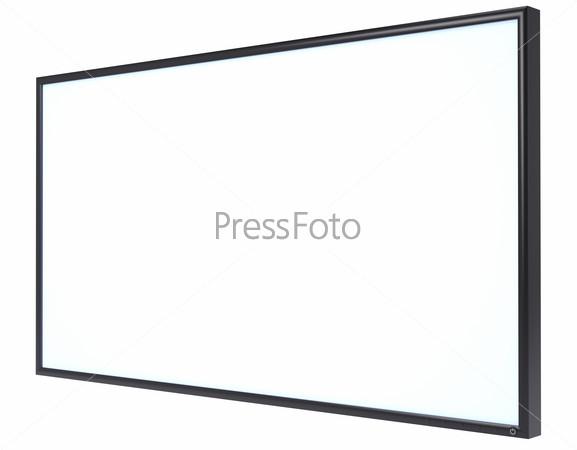 White blank screen monitor LSD