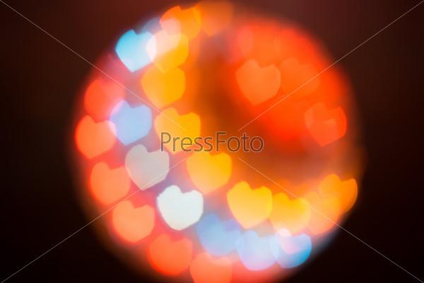 Light Ball with Heartshaped Bokeh