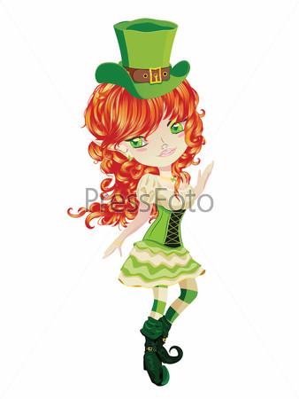 Cute Leprechaun Girl