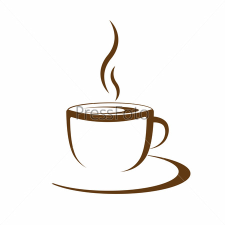 hot coffee cup vector
