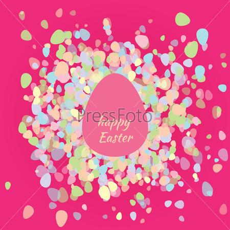 Postcard happy Easter egg
