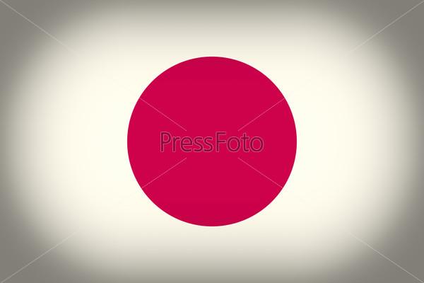 Retro look Flag of Japan