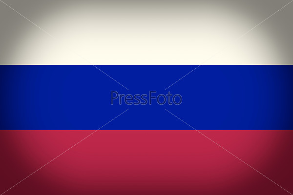 Retro look Flag of Russia