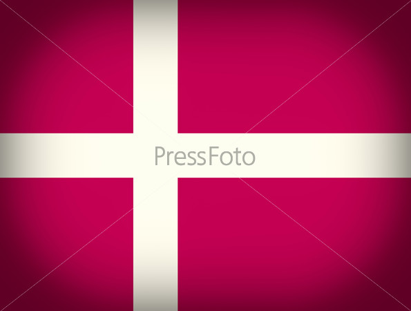 Retro look Flag of Denmark