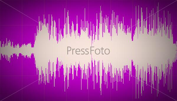 Retro look Sound waves