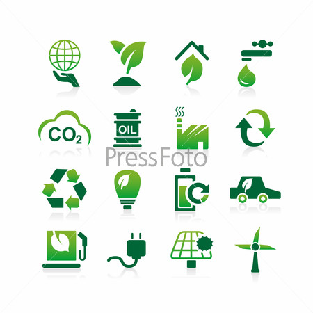 Green environment ECO icon