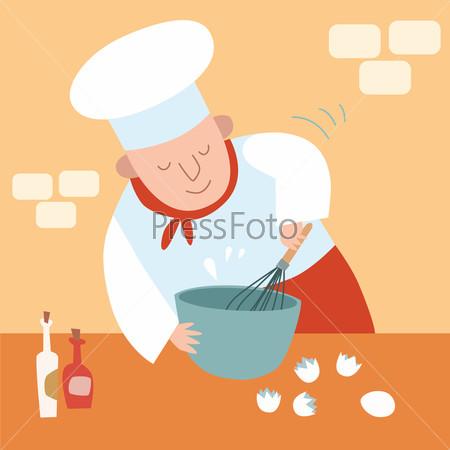 cook kitchen Whisk eggs