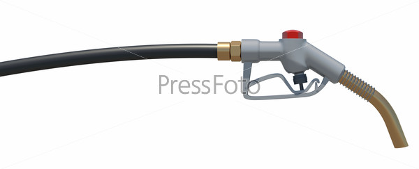 Gas hose nozzle. Front view. Isolated