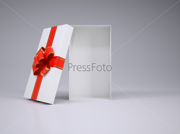 Open gift box with lid