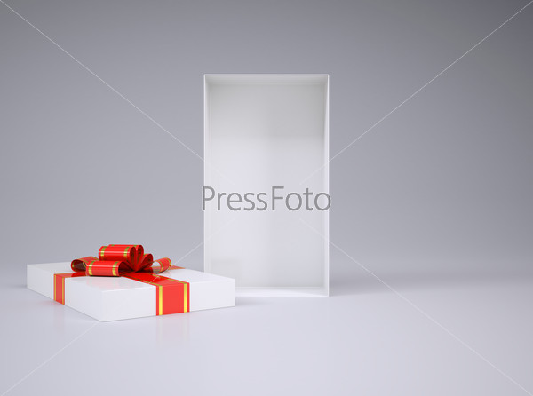 Gft box with bow and ribbon