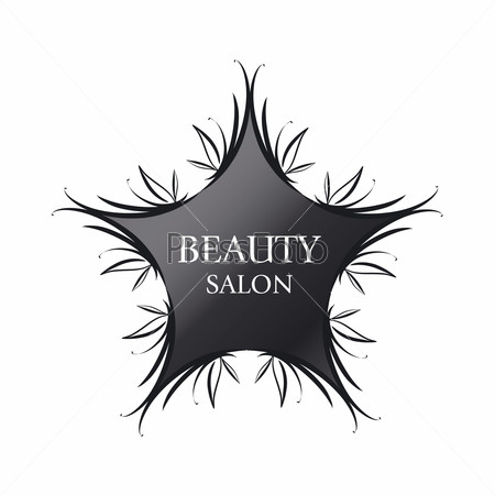 vector logo black star for fashion