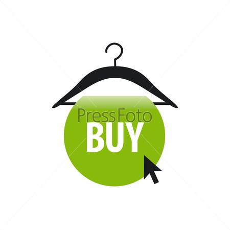 vector logo hanger with a green button and cursor