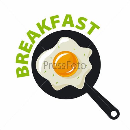 vector logo fried eggs for breakfast