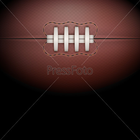 Dark Background of rugby ball.