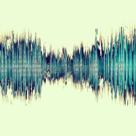 Colorful waveform