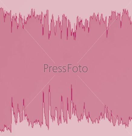 Colorful waveform