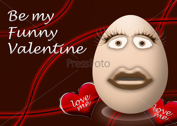 happy valentines day funny egg face