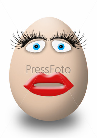 funny easter and valentines day egg face