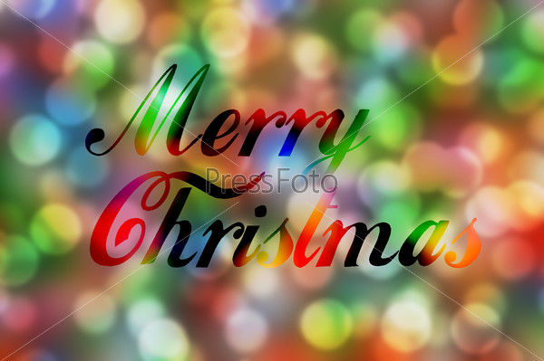 Colorful merry Christmas bokeh background lights multi colors