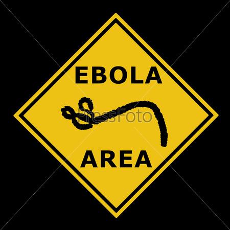 Ebola virus danger warning area symbol sign