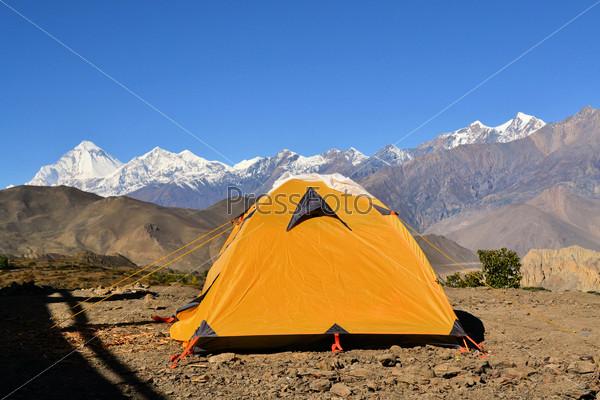 Camping tent at Annapurna Trek, Nepal