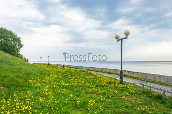 Embankment of the Volga river.